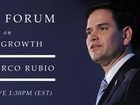 DC Kemp Forum on True Growth: Co-Sponsored by Google Featuring Senator Marco Rubio