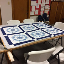 Making Mission Quilts with Immanuel Lutheran Church Quilters Group