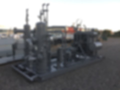 San Juan Compression natural gas compressor wellhead compression unit during manufacturing
