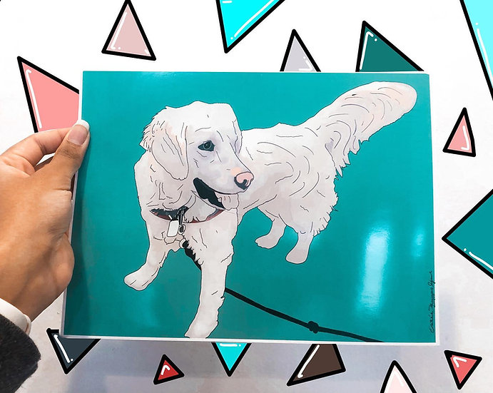 Hand-Drawn Print - Pet (unframed)