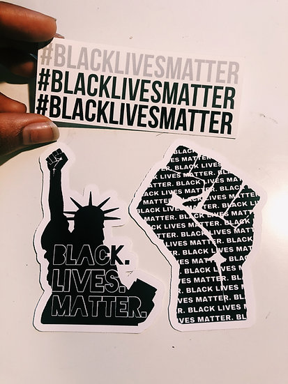 BLM Stickers (Set of 3)
