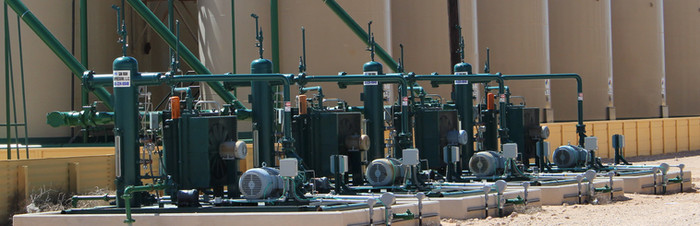San Juan Compression Vapor Recovery Units VRU on maintenance location used for Flash Gas