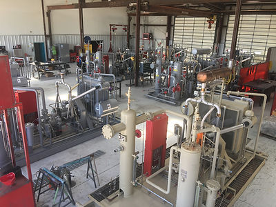 San Juan Compression natural gas compressor stainless steel tube bending and electrical shop with wellhead compression units