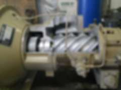 San Juan Compression leroi rotary screw compressor inside while doing maintenance