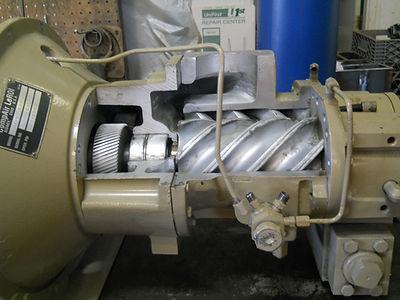 San Juan Compression leroi rotary screw compressor inside while doing maintenance