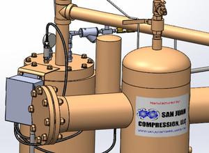 San Juan Compression Natural Gas Compressor Custom Design & Fabrication