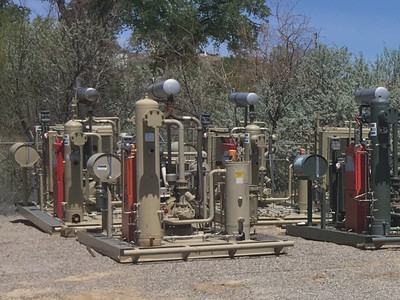 San Juan Compression inventory of natural gas wellhead and Vapor recovery unit VRU compressor rental