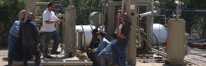 San Juan Compression maintenance and operation training on natural gas compressor