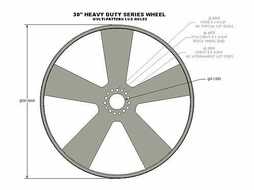 """30"""" Dia Wheel (single wheel only)"""