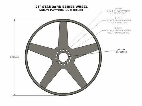 """25"""" Diameter Standard Series wheel (set of 4)"""