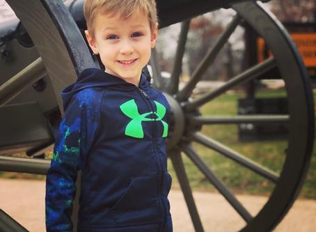 Prairie Grove Battlefield State Park with a celebrity