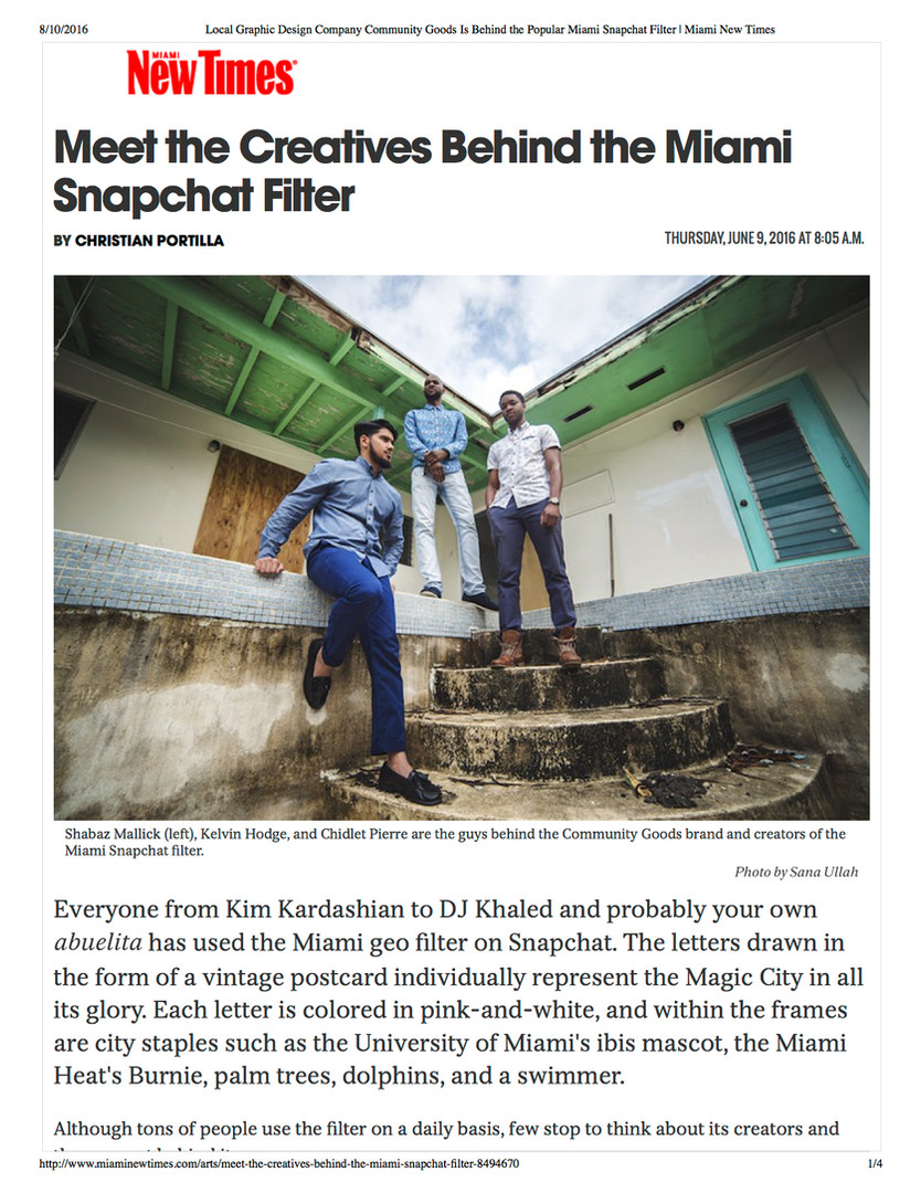 Meet the Creatives Behind the Miami Snapchat Filter