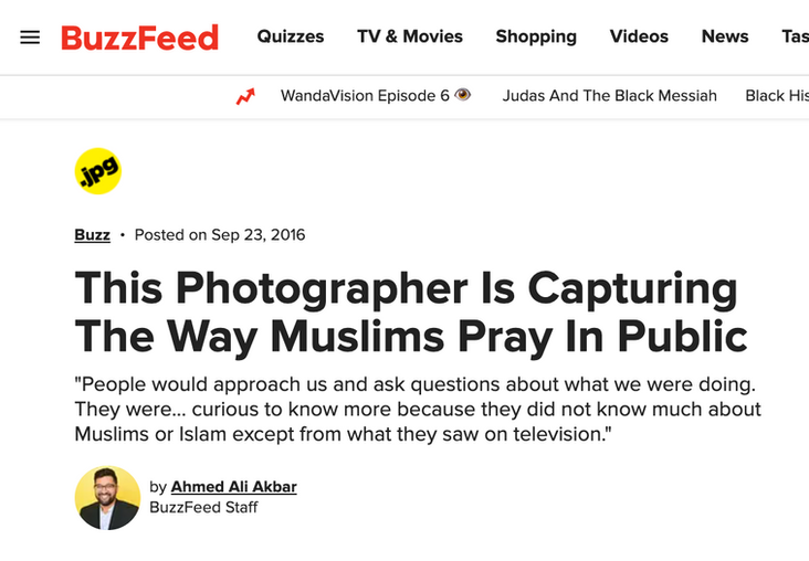This photographer is capuring the way Muslims pray in public
