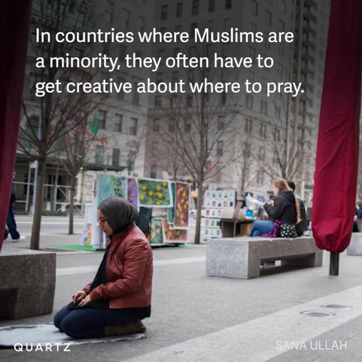 The unexpected places where Muslims pray