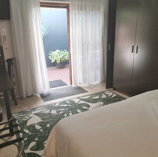 room with patio
