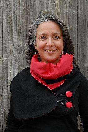 Col écharpe Noir et Rouge