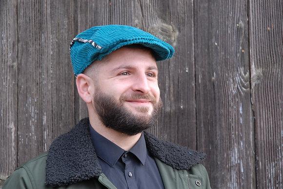 Casquette Homme Velours Turquoise Ethnik T57/58