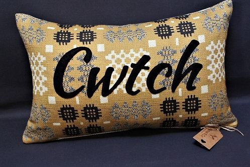 Faux Welsh Tapestry Cushion