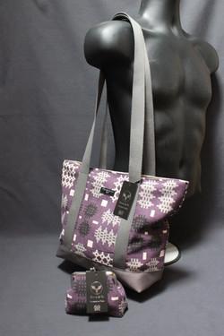 Purple Welsh Tapestry Print Shoulder _ T