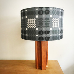 Grey welsh-tapestry-pattern-lampshade