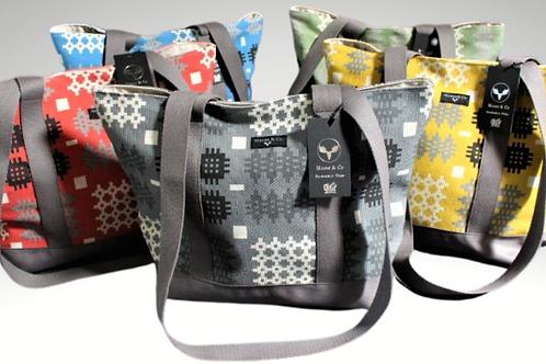 Welsh Tapestry / Blanket print shoulder bag