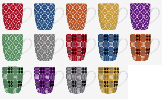 Welsh Tapestry Print Designer mugs