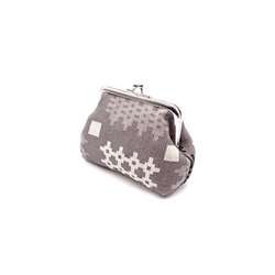 Grey Welsh tapestry print coin purse
