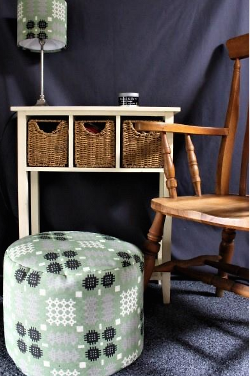Welsh Tapestry Print Pouffe / Foot Stool
