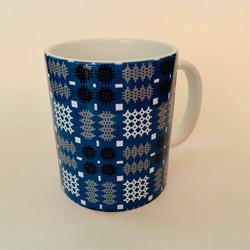 Blue Welsh Tapestry Mug Plain
