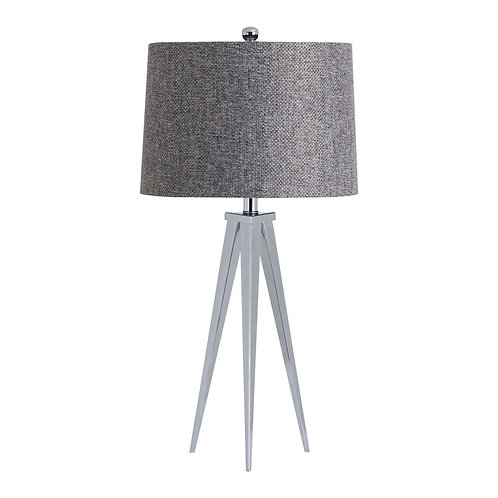 Genoa Chrome Tripod Table Lamp