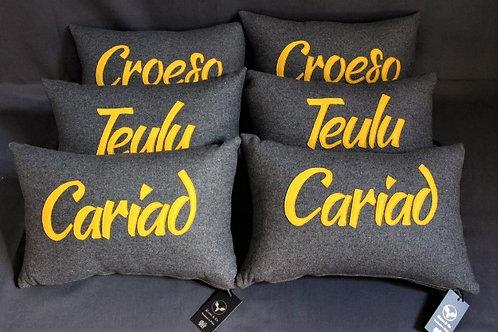 Wool Blend Welsh Language Cushions