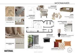 Materiaal woonkamer