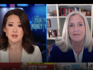 Sue Gordon Featured on CNBC Election Night Coverage