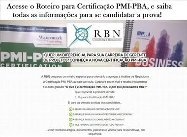 Roteiro p/ Certificação PMI-PBA RBN
