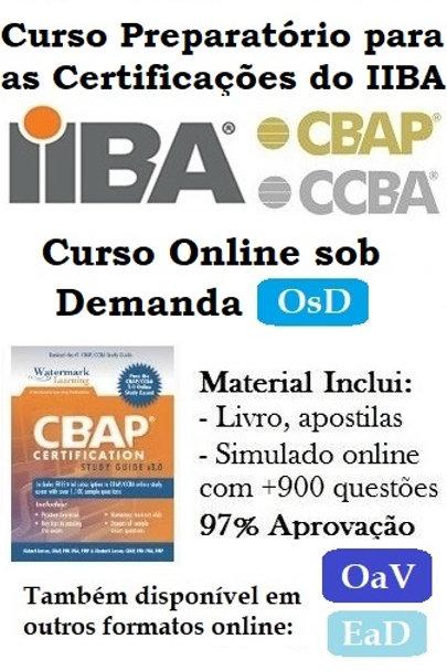 Curso OsD: Preparatório Certificação CCBA/CBAP do IIBA