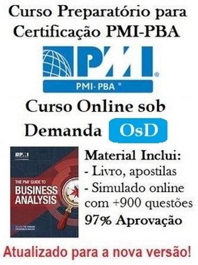 Curso Online sob Demanda (OsD): Preparatório para Certificação PMI-PBA