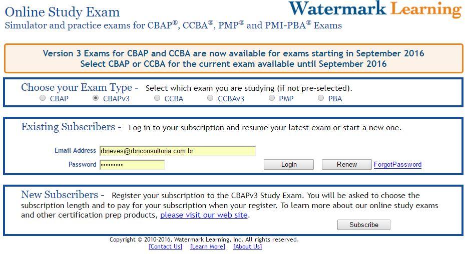RBN | Curso Preparatório Certificação CCBA / CBAP | Brasil