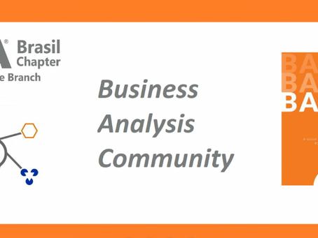 O IIBA Brasil faz seu 3o BA Community hoje, 17 de dezembro em Belo Horizonte