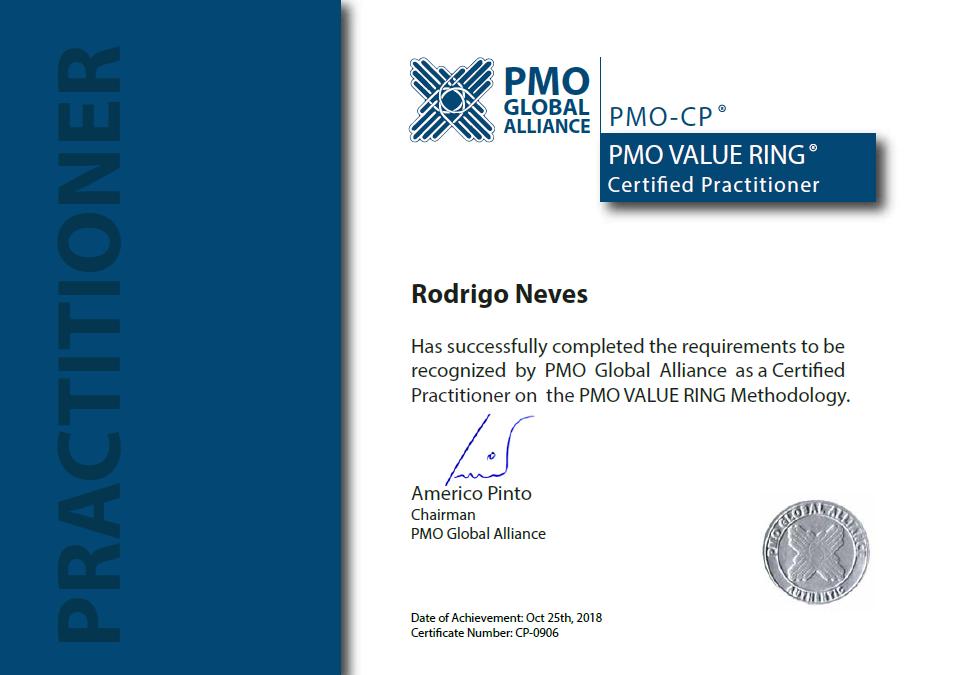 Certificado PMO-CP