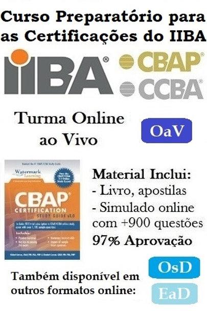 Curso OaV: Preparatório Certificação CCBA/CBAP - 6 Nov a 16 Dez