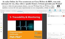 Aula PMI-PBA no Cisco Webex RBN