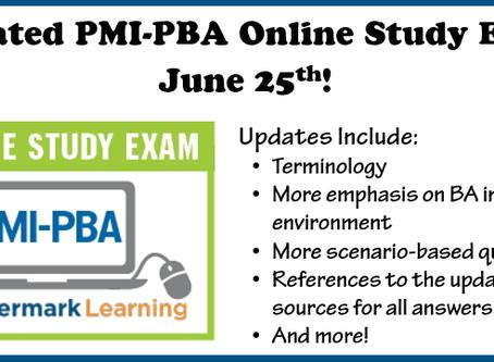 O Simulado Online PMI-PBA estará atualizado e disponível no dia 25/6!