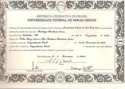 Diploma Eng. Civil UFMG