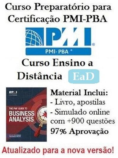 Curso Ensino a Distância (EaD+): Preparatório para Certificação PMI-PBA