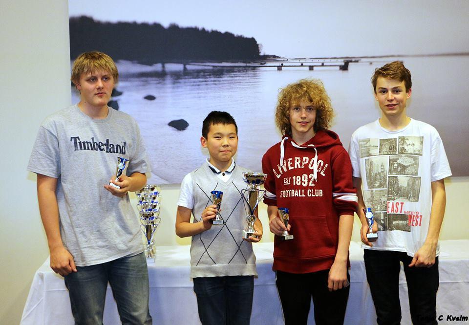 Stavanger Stars tok 3. plass i ungdomsklassen. Fra venstre: Kristoffer, Abyl, Aleksander og Benjamin