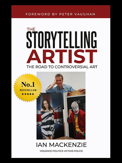 """SIGNED """"The Storytelling Artist - The Road to Controversial Art"""" Printed Book"""