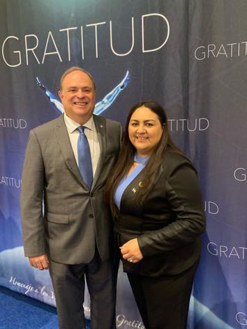 Alcalde de la Ciudad del Doral Florida Sr. Juan Carlos Bermudez & C.E.O. de la Organizacion Comunidad Fundamentos con Valores para el Exito, Sra. Alejandra Fuentes