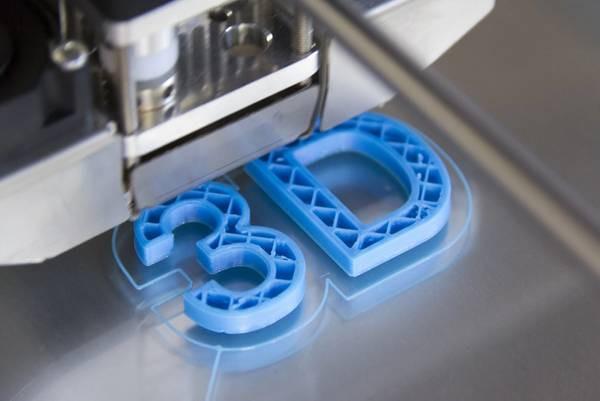 """3D printer printing """"3D"""" in plastic"""