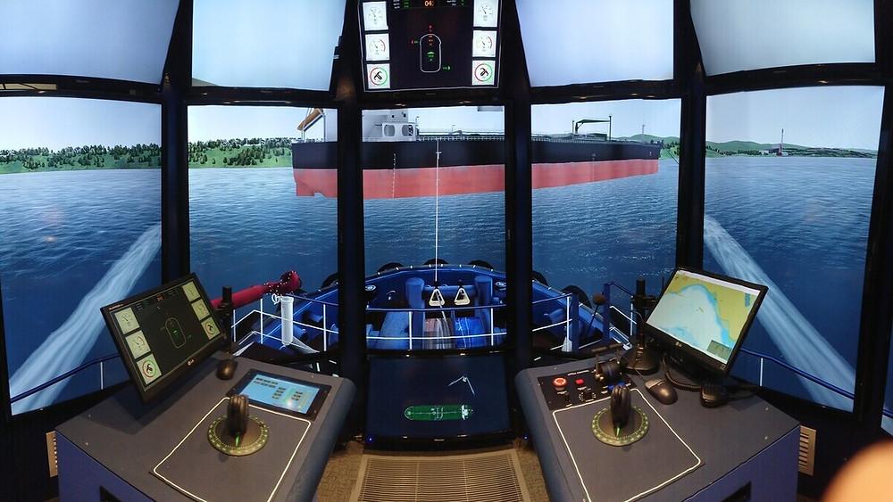 Kotug simulation with a vessel