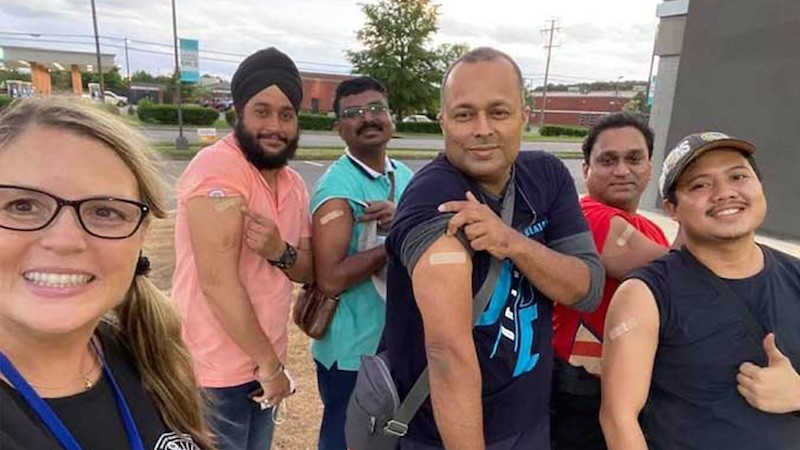 Seafarers recently vaccinated with J&J vaccine